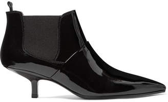 Acne Studios Kity Patent-leather Ankle Boots - Black