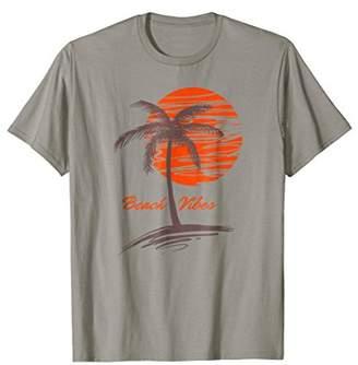 Beach Vibes Sunset Tropical Island Paradise Vacation T-Shirt