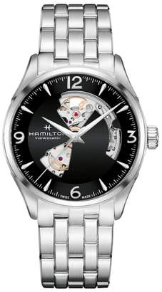 Hamilton Jazzmaster Open Heart Automatic Bracelet Watch, 42mm
