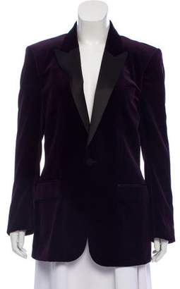 Burberry Velvet Tuxedo Blazer