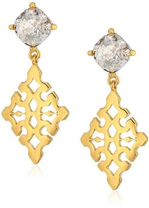 Badgley Mischka Diamond Geo Drop Earrings
