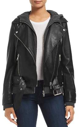 Bagatelle Layered-Look Faux-Leather Moto Jacket