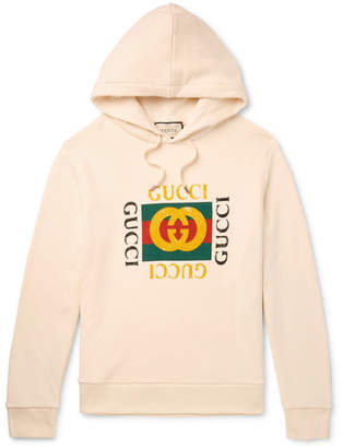 616657d3b Gucci Printed Loopback Cotton-Jersey Hoodie