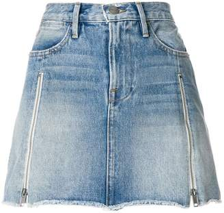 Frame frayed edge denim skirt