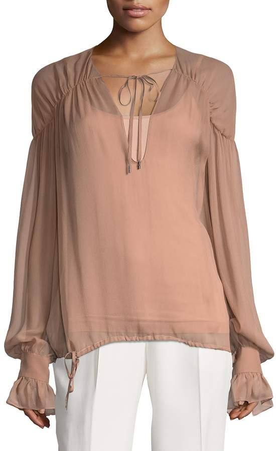 Tom Ford Women's Silk V-Neck Blouse