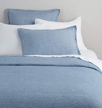 Rejuvenation Belgian Flax Linen Duvet Cover - Heathered Gray