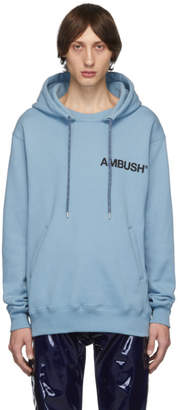 Ambush SSENSE Exclusive Blue Logo Hoodie