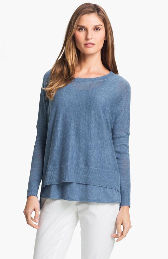 Eileen Fisher Lightweight Linen Tunic