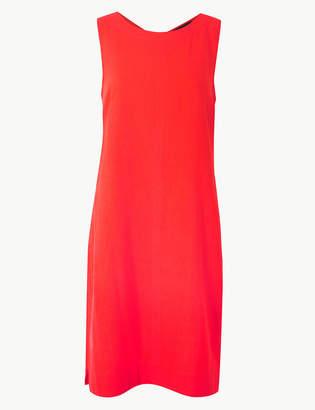 M&S Collection Linen Rich Round Neck Shift Dress