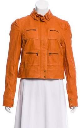 Diane von Furstenberg Leather Biker Jacket w/ Tags
