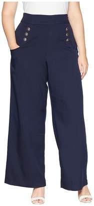 Unique Vintage Plus Size Sailor Ginger Pants Women's Casual Pants