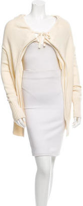 Vera Wang Drawstring-Accented Long Sleeve Cardigan $85 thestylecure.com