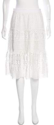 Diane von Furstenberg Lace Knit Knee-Length Skirt