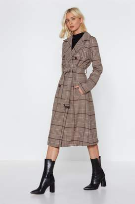 Nasty Gal Checking You Out Trench Coat