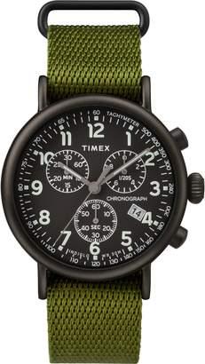 Timex R) Standard Chronograph Textile Strap Watch, 41mm