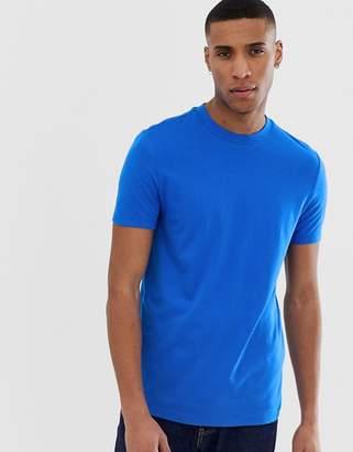 Design DESIGN organic t-shirt with crew neck in blue