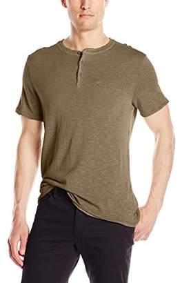 Michael Stars Men's Short Sleeve Raw Edge Henley Shirt