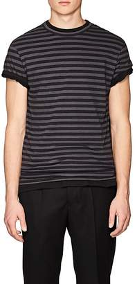 Officine Generale Men's Striped Cotton Short-Sleeve T-Shirt