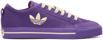 Raf Simons Purple adidas Edition Matrix Spirit Low Sneakers $325 thestylecure.com