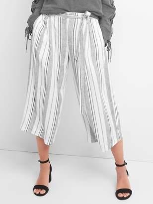 Gap Crop stripe wide leg pants