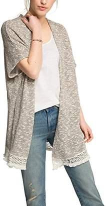 Esprit Women's Card Chunky KNT Plain Long Sleeve Cardigan,(Manufacturer Size:Large)