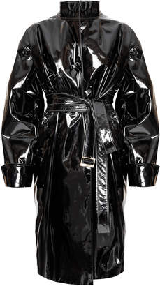 Alexandre Vauthier Coated Vinyl Leather Trench Coat