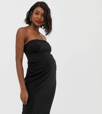Asos DESIGN Maternity bandeau midi dress