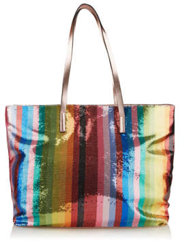 George Rainbow Sequin Stripe Beach Bag