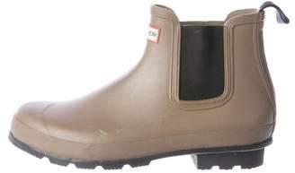 Hunter Rubber Round-Toe Chelsea Rain Boot