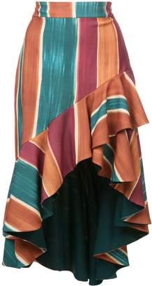 PatBO Rio striped skirt