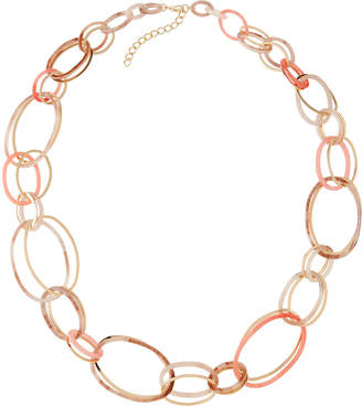Stella & Ruby Long Oversized-Link Necklace, Pink