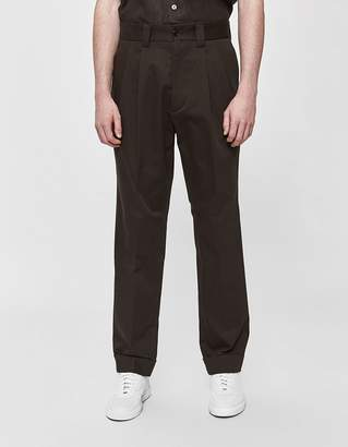 Margaret Howell Tapered Twill Trouser in Peat