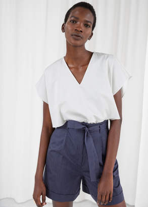And other stories Overlap Stripe Blouse