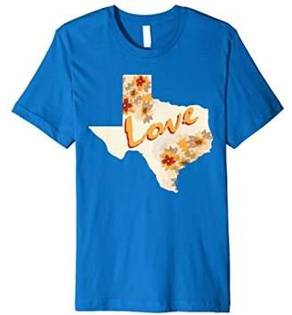 Texas MAP LOVE Gift for Texas Fan T-shirt