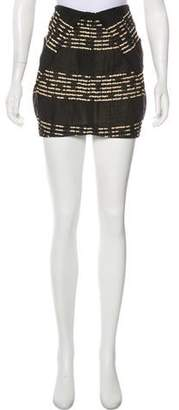 Zero Maria Cornejo Patterned Mini Skirt