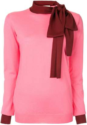 Marni contrast neck-tied sweater