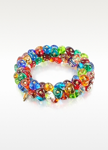 Antica Murrina Rubik - Murano Glass Drops Stretch Bracelet