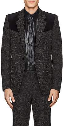 Givenchy Men's Velvet-Trimmed Bouclé Wool Two-Button Sportcoat