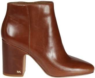 Michael Kors Logo Plaque Ankle Boots