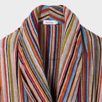Men's Signature Striped Towelling Dressing Gown $375 thestylecure.com