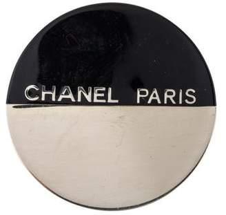 Chanel Round Resin Brooch