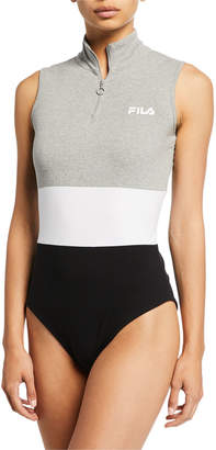 Fila Bianca Sleeveless Colorblock Bodysuit