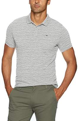 Tommy Hilfiger Tommy Jeans Men's Polo Shirt Melange with Short Sleeves