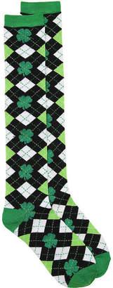 K. Bell Argyle Shamrocks Knee Socks - Women's