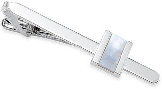 Sutton by Rhona Sutton Men's Silver-Tone Mother-of-Pearl Stone Tie Clip $50 thestylecure.com