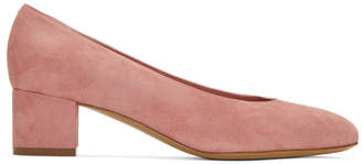 Mansur Gavriel Pink Suede Ballerina Heels