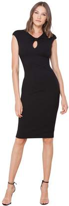 Hale Bob Rosine Crepe Keyhole Dress