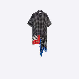 Balenciaga Multi paneled asymmetrical shirt dress
