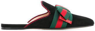 Gucci Sylvie bow embellished slippers