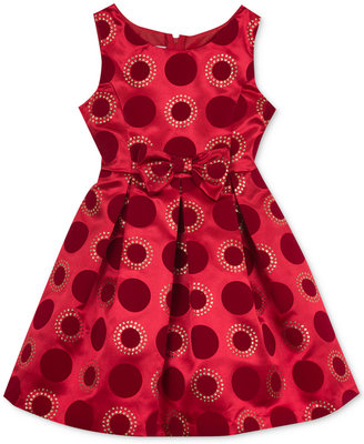 Rare Editions Glitter Dot Dress, Girls (7-16) $84 thestylecure.com